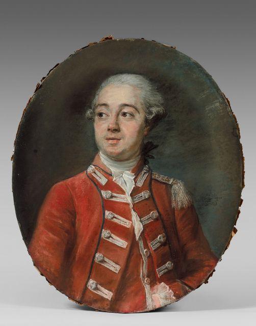 Elisabeth-Louise Vigée-Le Brun Paris, 1755 - 1842 Portrait d''un officier, probablement du corps des Gardes suisses ou des Mousquetai..