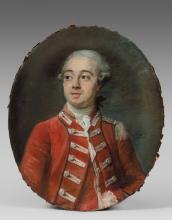 Elisabeth-Louise Vigée-Le Brun Paris, 1755 - 1842 Portrait d'un officier, probablement du corps des Gardes suisses du roi Pastel sur..