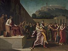 Anatole Devosge Dijon, 1770 - 1850 Le divorce : Alcibiade emporte Hipparète, sa femme, qui s'était présentée devant l'archonte pour..