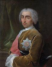 Carle Van Loo Nice, 1705 - Paris, 1765 Portrait de William Bateman, Ier Vicomte Bateman Huile sur toile