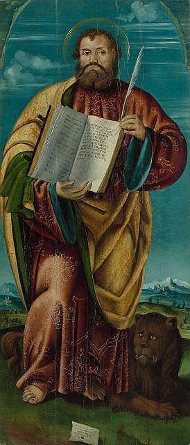 Agostino Facheris, dit da Caversegno Caversegno, vers 1500 - après 1552 Saint Marc Huile sur panneau