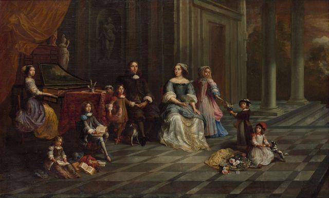 François Duchatel Bruxelles, vers 1620 - vers 1690 Portrait de la famille Janssens Huile sur toile