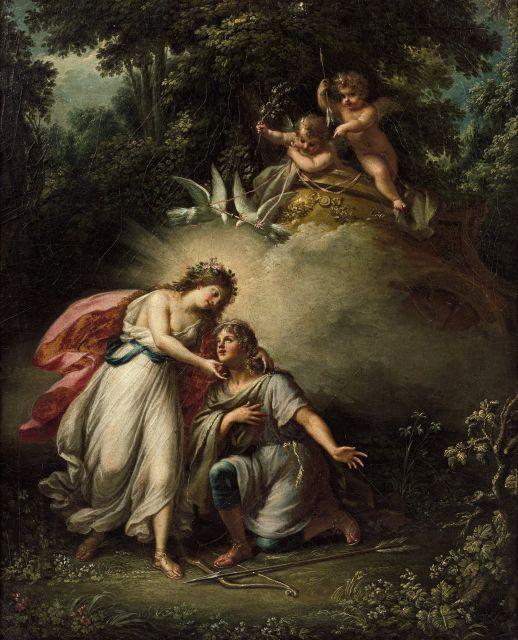Fedele Fischetti Naples, 1732 - 1792 Vénus et Adonis Toile