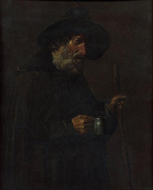 Pietro Bellotti Roè Volciano, vers 1625 - Gargnano, 1700 Un mendiant Huile sur toile