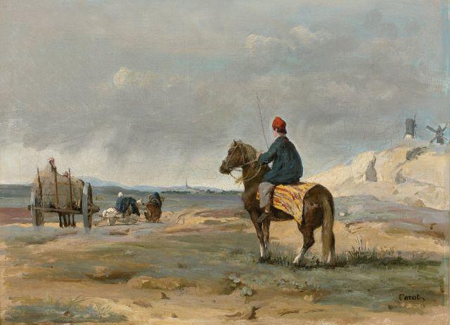 ¤ Jean-Baptiste Camille Corot Paris, 1796 - Ville d'Avray, 1875 Le fermier de Pithiviers Huile sur toile