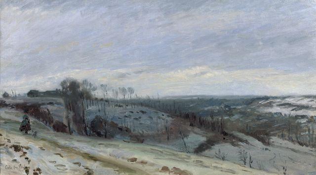 Adolphe-Félix Cals Paris, 1810 - Honfleur, 1880 Entrée du Grand Trou à Gilocourt (Oise) Huile sur toile (Toile d''origine)