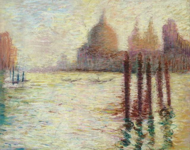 Lucien Lévy-Dhurmer Alger, 1865 - Le Vésinet, 1953 Le Grand Canal avec la Salute, Venise Pastel