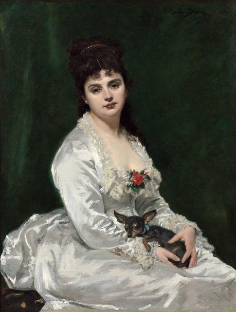Charles-Emile Durand, dit Carolus-Duran Lille, 1837 - Paris, 1917 Portrait de Madame Henry Fouquier Huile sur toile