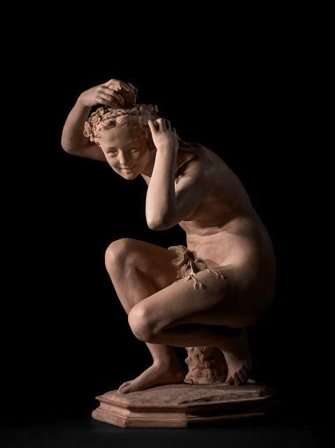 Jean-Baptiste Carpeaux Valenciennes, 1827 - Courbevoie, 1875 Flore accroupie n°1 Terre cuite