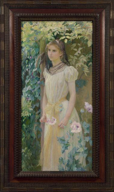 Armand Point Alger, 1860 - Naples, 1932 Mélancolie Huile sur toile (Toile d''origine)