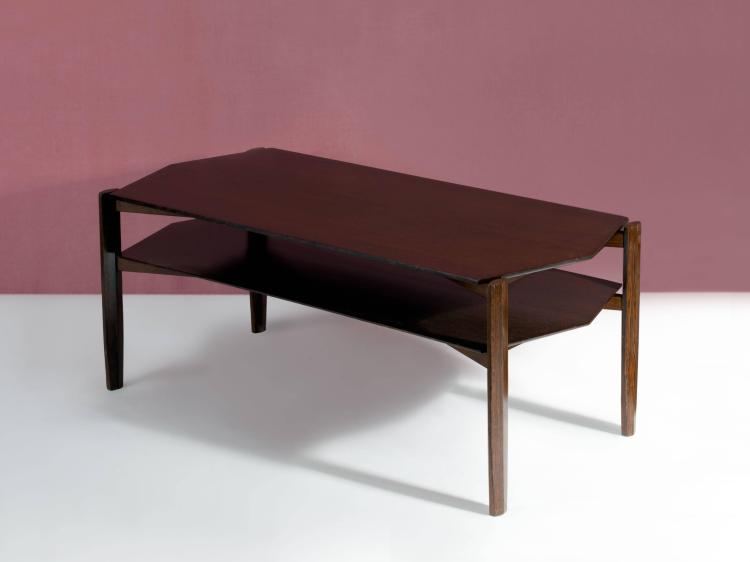 Gio Ponti 1891 1979 Table Basse Hexagonale A Double Plat