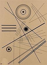 ¤ Wassily KANDINSKY 1866 - 1944 SANS TITRE - 1923 Encre de Chine sur papier