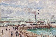¤ Camille PISSARRO 1830 - 1903 ENTREE DU PORT DU HAVRE ET LE BRISE-LAMES OUEST - 1903 Huile sur toile