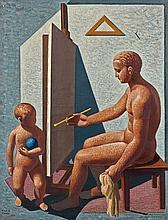 Mario TOZZI 1895-1979 IL PITTORE - 1931 Huile sur toile
