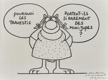 Philippe GELUCK Né en 1954 Sans titreLe Chat et les travestis