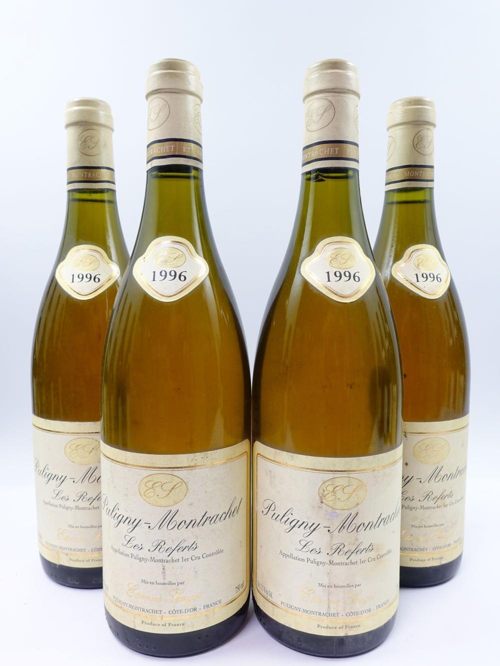 4 bouteilles PULIGNY MONTRACHET 1996 1er cru Les Referts