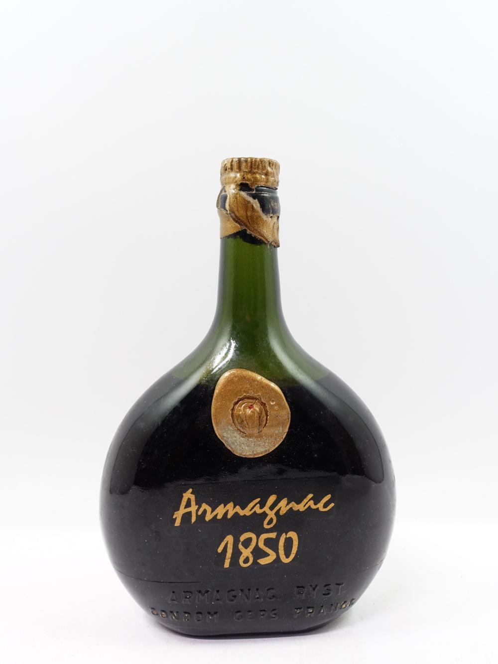 1 bouteille ARMAGNAC RYST 1850 J