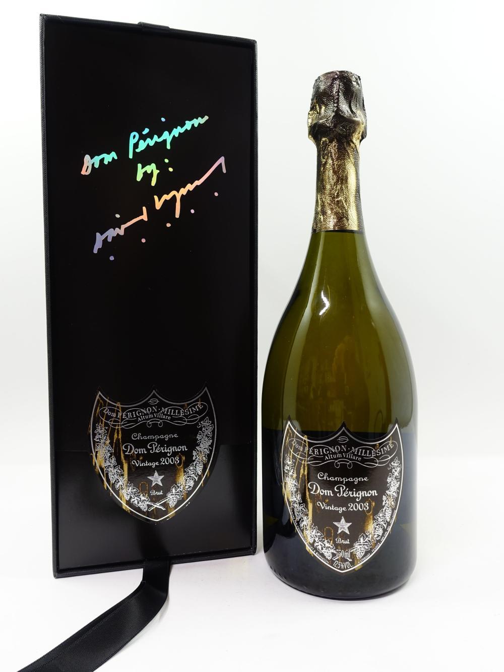 1 bouteille CHAMPAGNE DOM PERIGNON 2003 Edition David Lynch Coffret d'origine