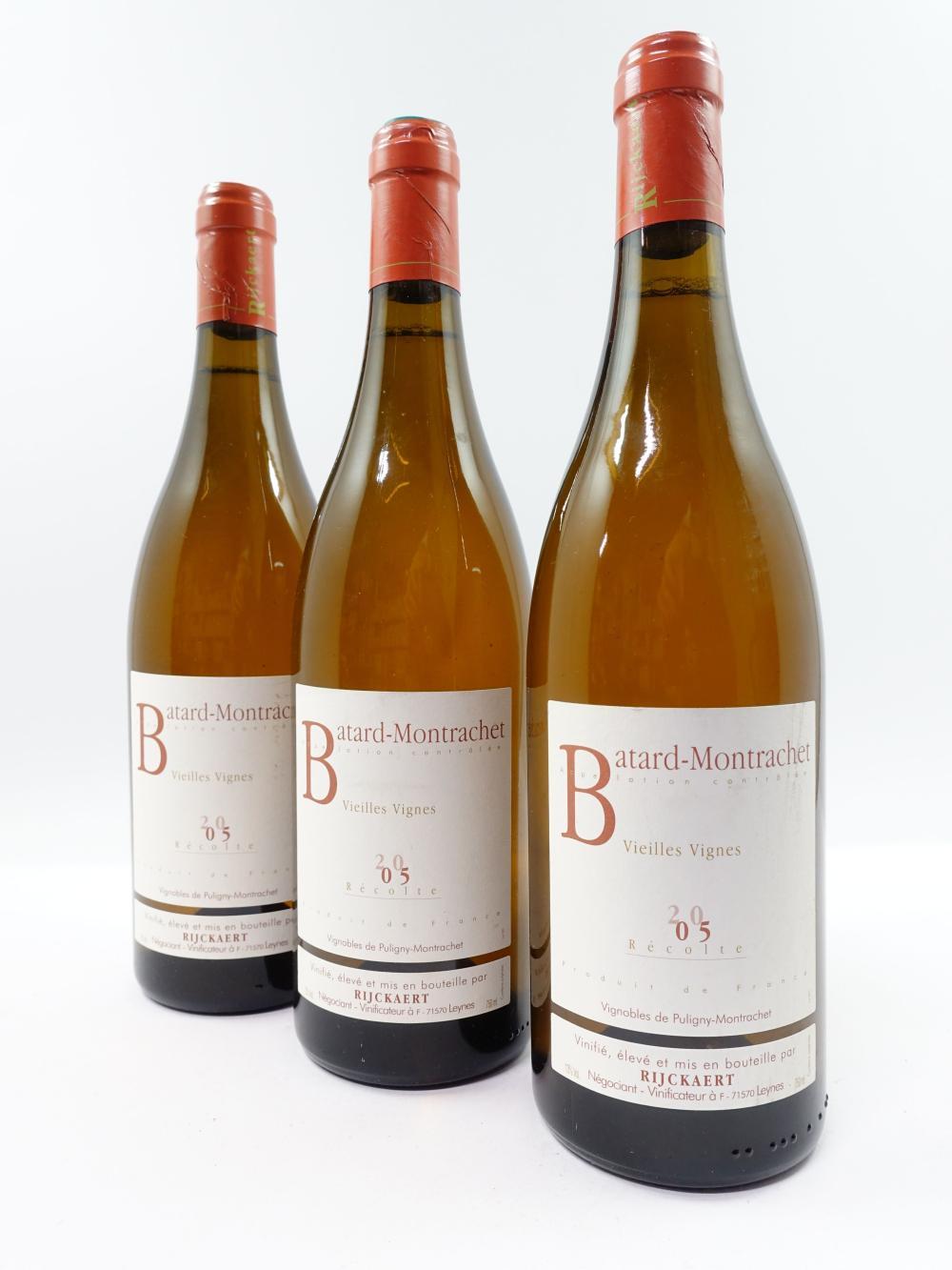 3 bouteilles BATARD MONTRACHET 2005 Grand Cru