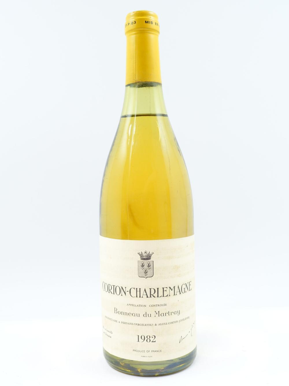 1 bouteille CORTON CHARLEMAGNE 1982 Grand Cru