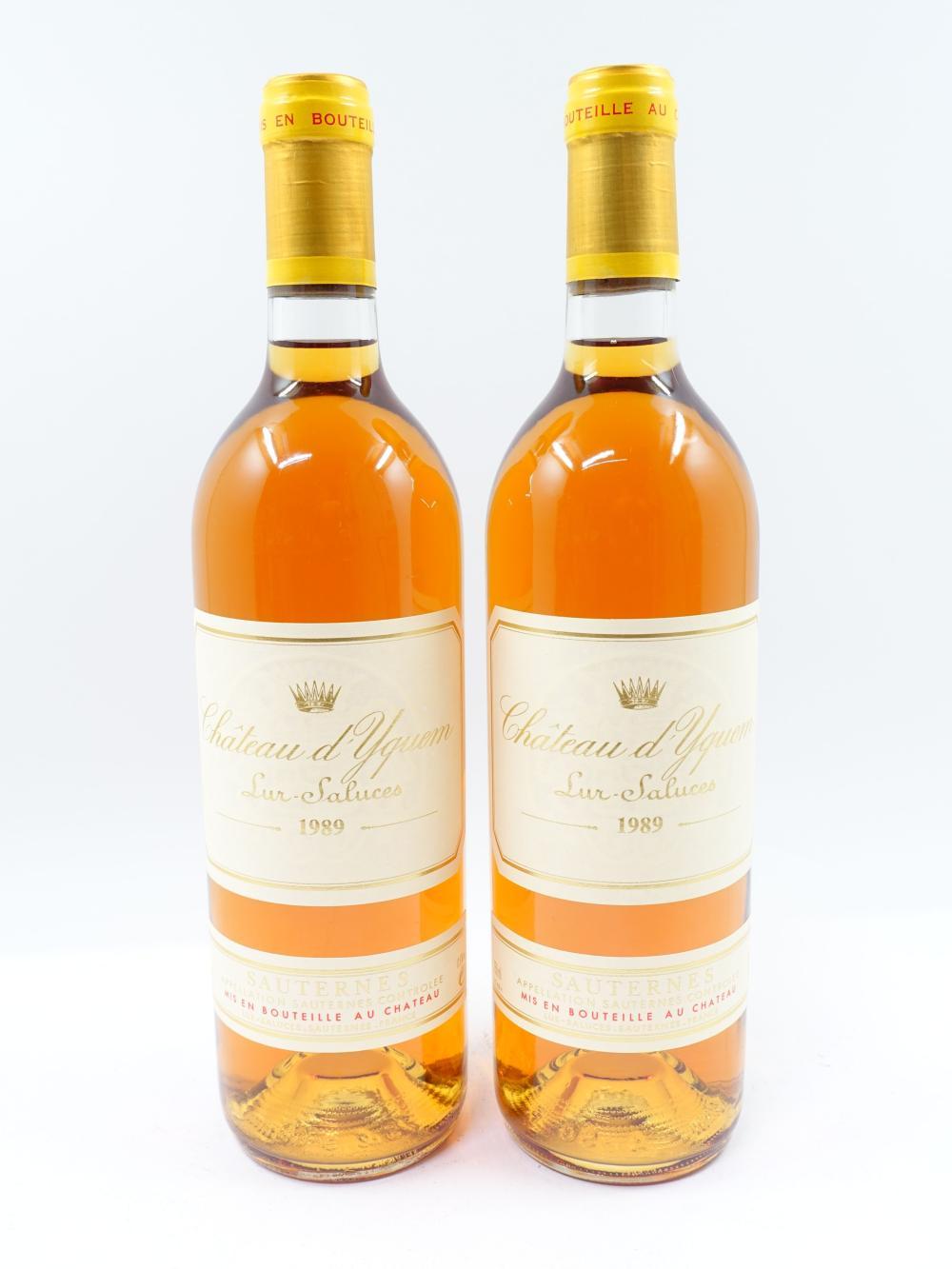 12 bouteilles CHÂTEAU D'YQUEM 1989 1er cru Supérieur Sauternes ( Caisse bois d'origine