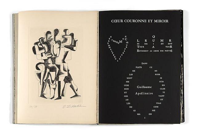 Ossip ZADKINE et Guillaume APOLLINAIRE (Vitebsk, 1890- Paris, 1967) SEPT CALLIGRAMMES
