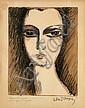 Kees VAN DONGEN (Delfshaven, 1877 - Monaco, 1968) LA JEUNE FILLE AU COU DE CYGNE ou L'ANGLAISE, 1927