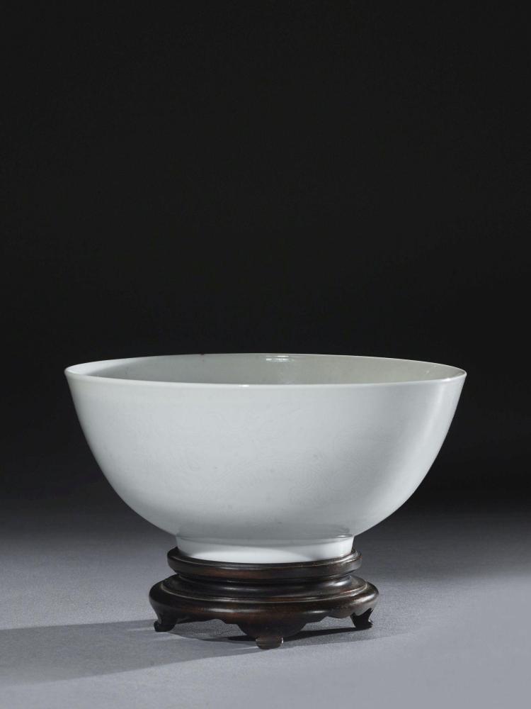 Bol en porcelaine blanc de chine chine dynastie qing poq for Porcelaine de chine