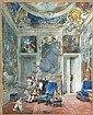 Eugène Lami Paris, 1800 - 1890 Scène du 'Malade imaginaire' de Molière Gouache sur trait de crayon, Eugene Lami, Click for value