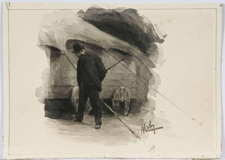 Baron Félicien de Myrbach-Rheinfeld Zaleszycki, 1853 - 1940 Deux scènes de cirque Lavis d'encre de Chine sur trait de crayon noir,