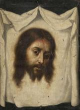 Attribué à Juan de Valdés Leal Séville, 1622 - 1690 Le voile de sainte Véronique Huile sur toile