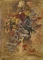 Fernand Cormon Paris, 1845 - 1924 Bouquet de fleurs Huile sur toile