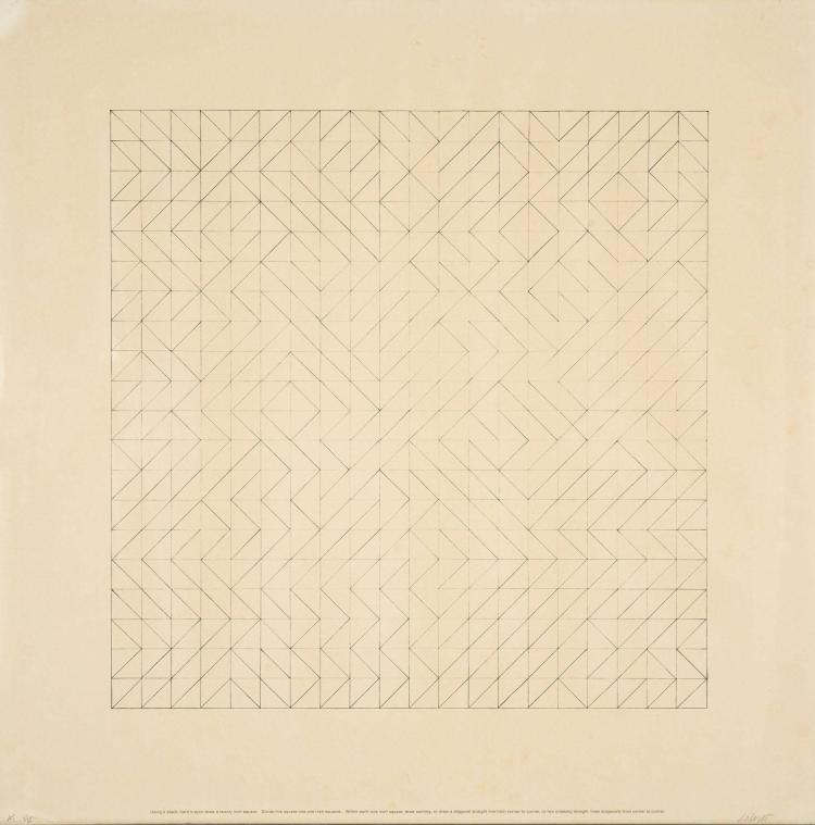 Sol Lewitt 1928 2007 Work From Instructions 1971