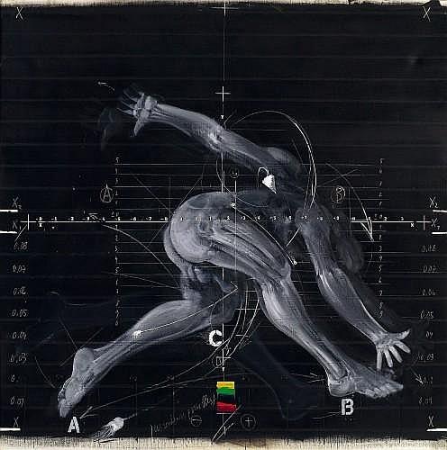 Vladimir VELICKOVIC (né en 1935) LE PAS, 1974 Huile sur toile
