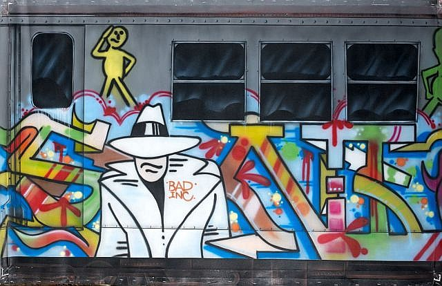 SONIC (né en 1961) SONIC BAD, 2012 Peinture aérosol et acrylique sur toile