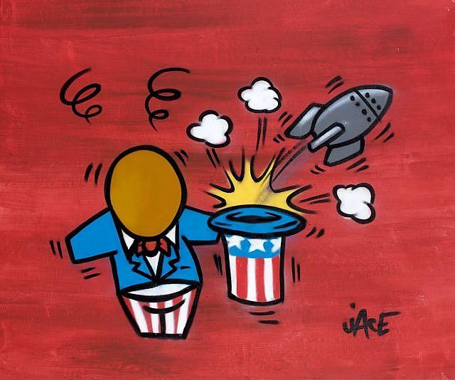 JACE (né en 1973) SANS TITRE Peinture aérosol sur toile