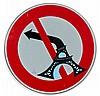 CLET (Clet Abraham dit) (né en 1966) SANS TITRE, 2013 Stickers sur panneau de signalisation de la ville de Florence, Clet Abraham, Click for value