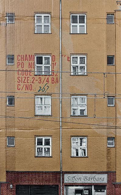 EVOL (Né en 1970) SALON BARBARA (SIZE 2-3/4 BA), 2011 Pochoir et peinture aérosol sur carton épais (HPM, version #5)