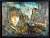 C215 (né en 1973) PORTRAIT DE NINA Pochoir, peinture aérosol et acrylique sur panneau de bois,  C215, Click for value