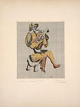 Ossip ZADKINE 1890 - 1967 LE GUITARISTE – 1966