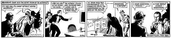 DAVIS Phil (1906 - 1964) MANDRAKE Encre de Chine pour le strip réalisé le 26 septembre 1940 pour le King Features Syndicate. Signé. ...
