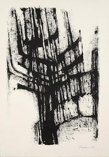 Serge REZVANI (né en 1928) COMPOSITION, 1958 Dessin à l'encre de Chine sur papier