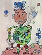 Gaston CHAISSAC (1910-1964) PERSONNAGE, 1948 Gouache sur cartonnette, Gaston Chaissac, Click for value