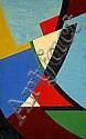 Nicolaas WARB (1906-1956) CADENCE, UNITE, N°88, 1945 Huile sur panneau, Sophia Elisabeth Warburg, Click for value