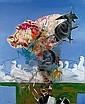 Rita ACKERMANN (née en 1968 -) TERRESTRIAL ACCIDENTS OF THE SUPERNATURAL, 2000 Acrylique et stylo bille sur toile, Rita Ackermann, Click for value