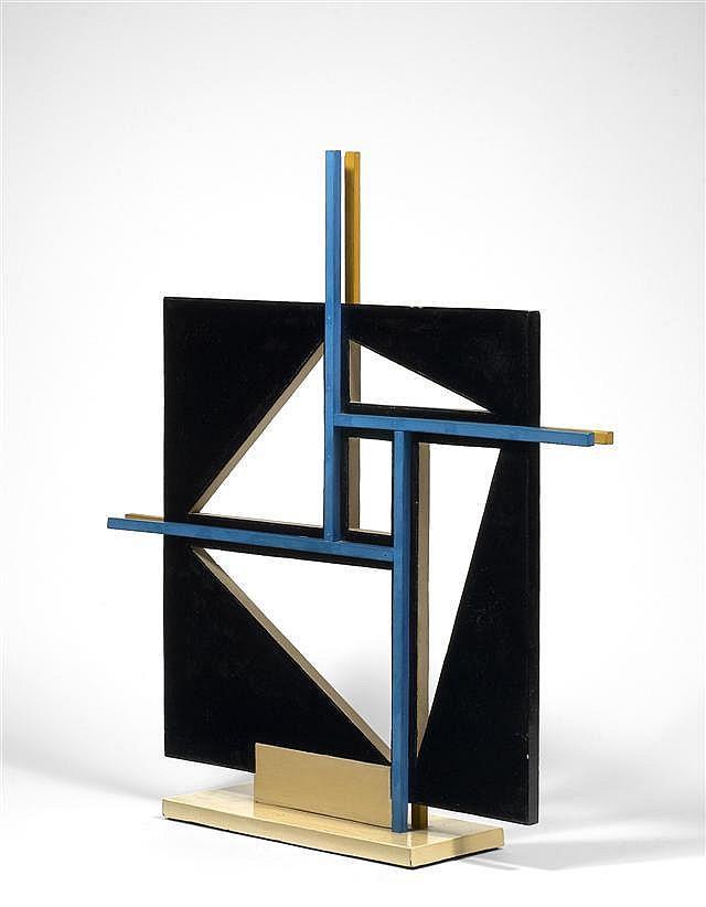 Nicolaas WARB (1906-1956) SANS TITRE Sculpture en bois découpé peint