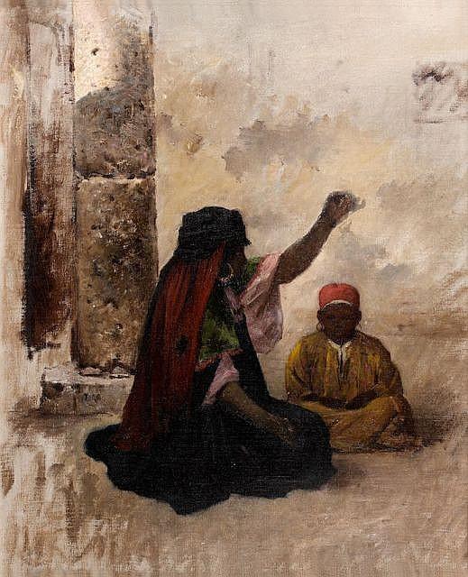 Gustave PINEL (1842 - 1896) La fileuse
