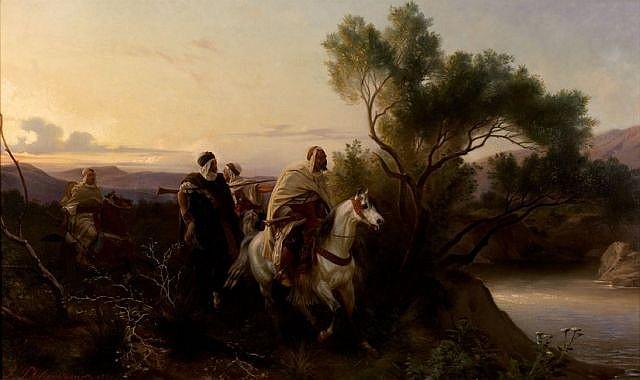 Henri-Félix-Emmanuel PHILIPPOTEAUX (Paris, 1815 - Paris, 1884) Les éclaireurs