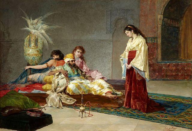 José de CALA Y MOYA (1850 - 1891) Le Pacha et ses favorites
