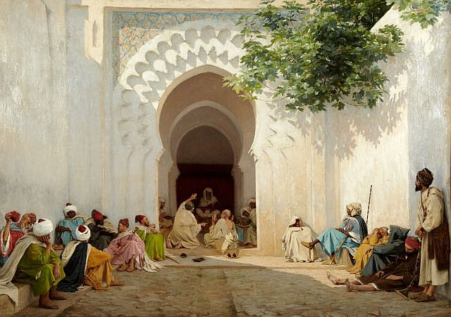 Georges BRETEGNIER (Héricourt, 1860 - Paris, 1892) Une audience du Pacha à Tanger